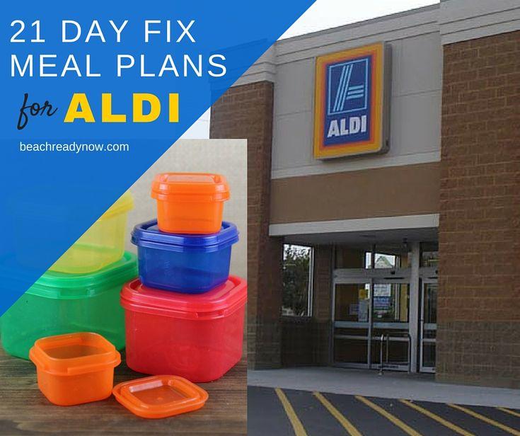 21 Day Fix Menu Plans you can use at ALDI #21DayFix