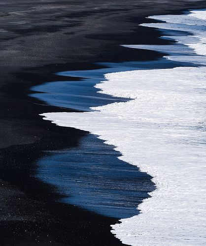 Black sand beach of Dyrhólaey, Iceland