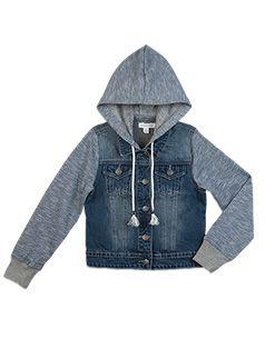 Girlswear Hooded Denim Jacket Denim jacket