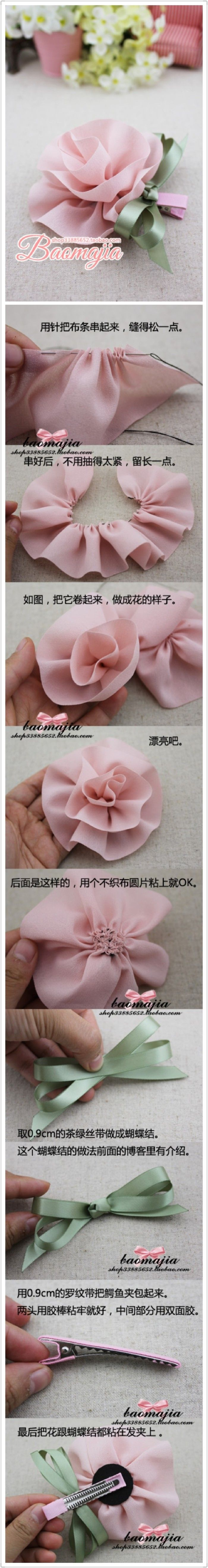 pretty fabric flowers to make
