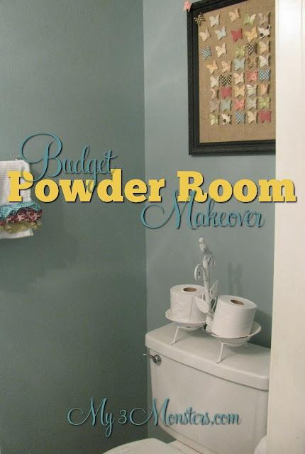 A Powder Room Makover On A Budget Powder Room Room And