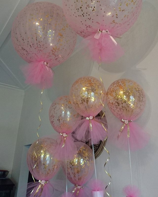 25 best ideas about pink gold party on pinterest pink for Baby shower decoration ideas with balloons