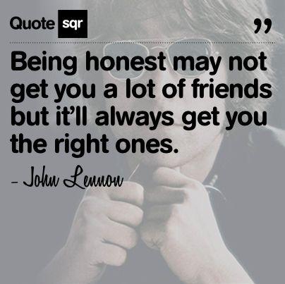 Being honest...