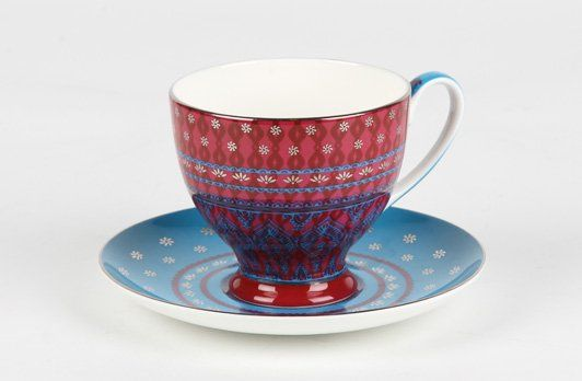 Sari Cup & Saucer Pink | T2 Tea