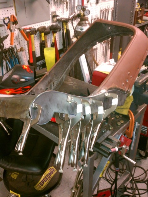 The Ebay special... a 1934 Plymouth Grill...in the process ...