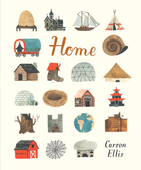 "The illustrated children's book,""Home"" by Carson Ellis, would make a great closing gift for families with young children!"