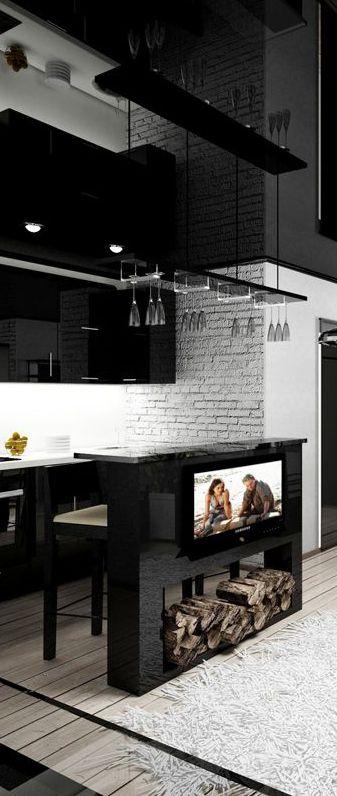Stylish bachelor pad stunning home decor design for Bachelor kitchen ideas
