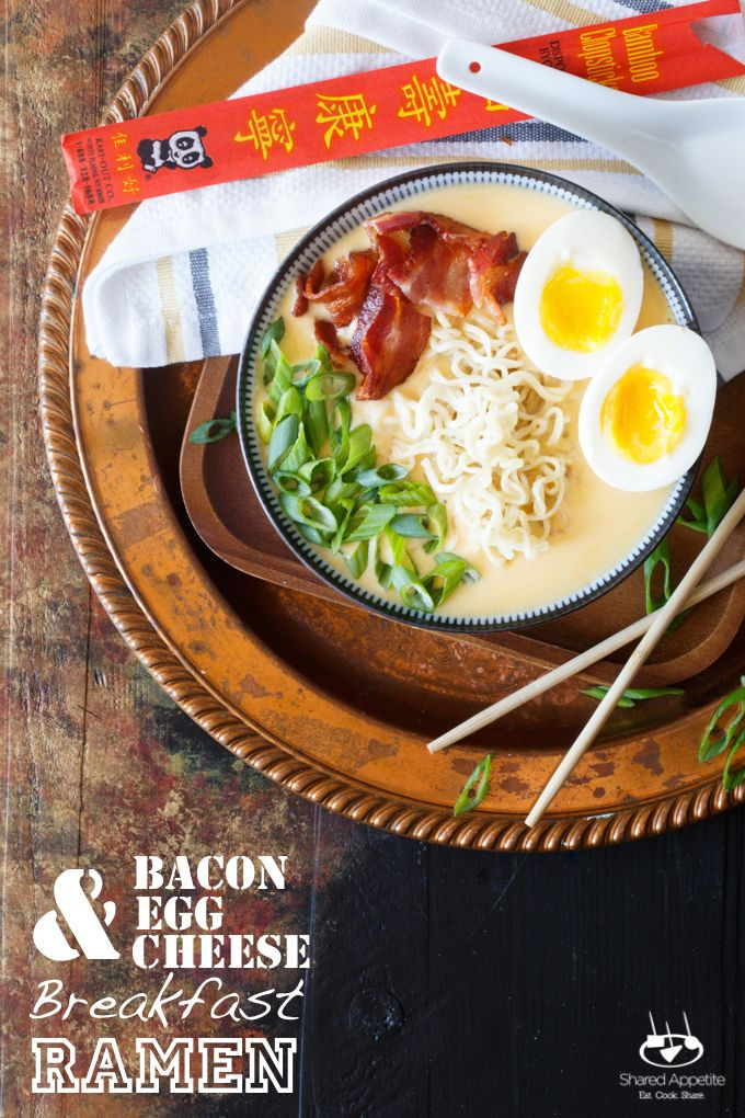 Bacon egg and cheese ramen [oc] [680x1020]