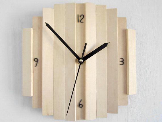 ROMB III Hlzerne Wanduhr Geometrische Minimale Bro Uhr Einfache Wohnzimmer Alte Rustikale