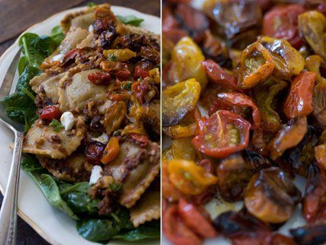 loving it!: Amazing Recipe, Easy Recipe, Pasta Dishes, Loss Recipe, Delicious Red, Red Pesto Ravioli Recipe, Healthy Recipe, Vegetarian Recipes, Best Vegetarian Recipe