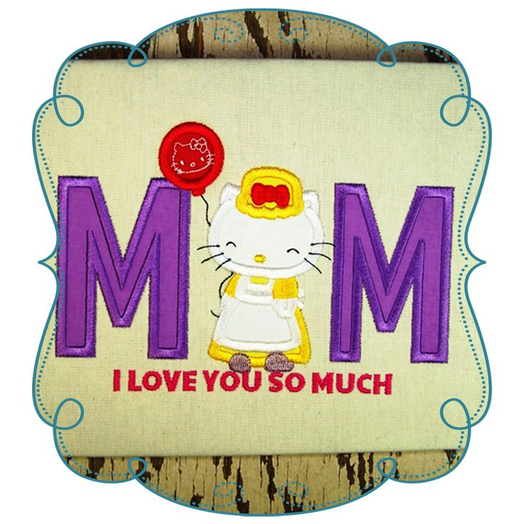 Hello Kitty Mothers Day Applique