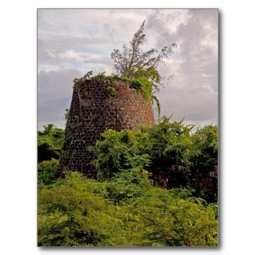 Caribbean Stone Ruins Nevis, West Indies Hamilton