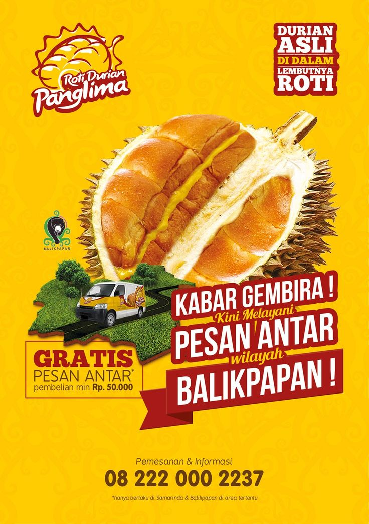Roti durian flyer design
