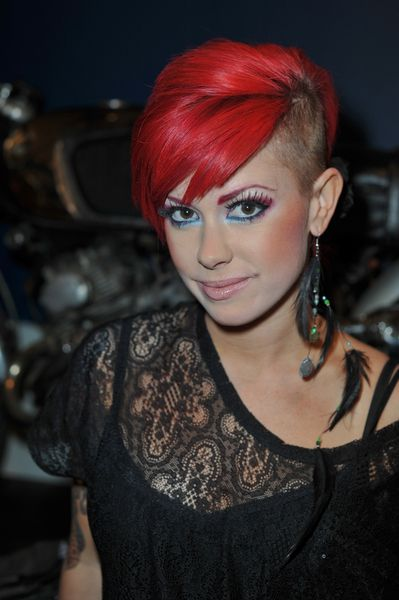 Hairstyles For Short Hair With Shaved Side : ... shaved short hairstyle shaved sides more half shaved hairstyles short