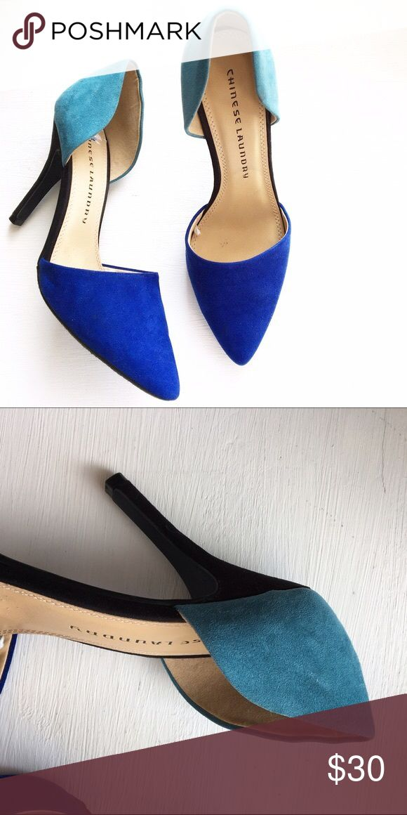 Chinese Laundry Two Tone Heels - Blue Stay two feet ahead with these statement makers. Never worn. New without box two tone heels. Chinese Laundry Shoes Heels