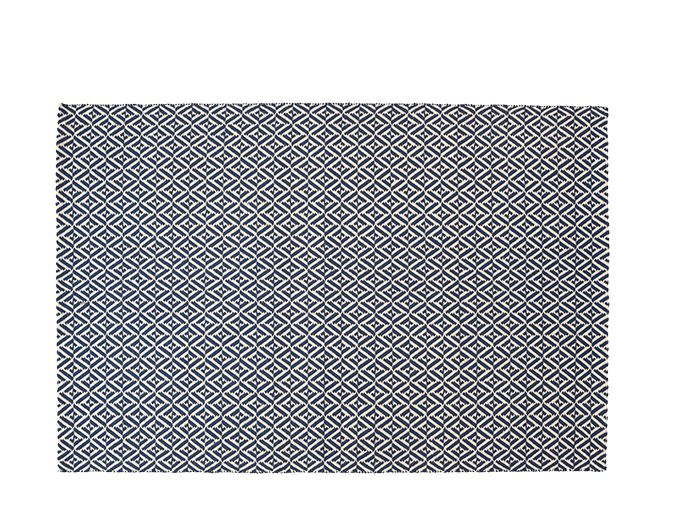 Mira Large Flatweave Rug 160 x 230 cm, Navy