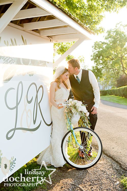 Vintage Bike With Flowers And A Large Custom Sign Www
