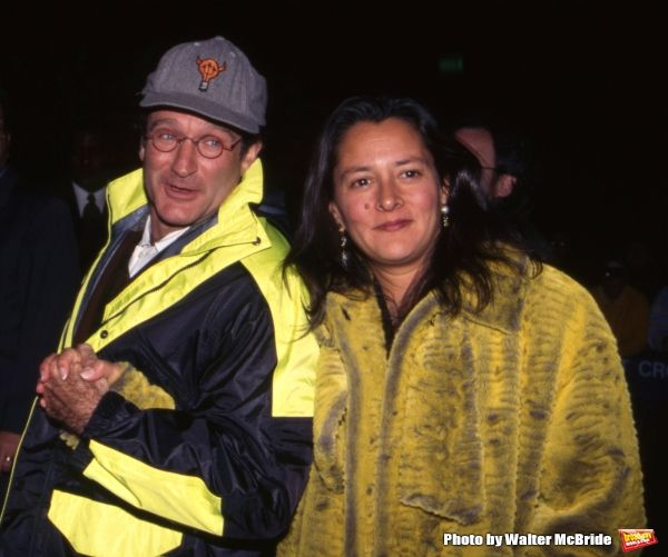 Photo Flash: Remembering Robin Williams -- Robin Williams with wife, Marsha, at the Premiere of 'The Mirror has Two Faces' at the Zeigfeld Theatre on November 11, 1996 in New York City.