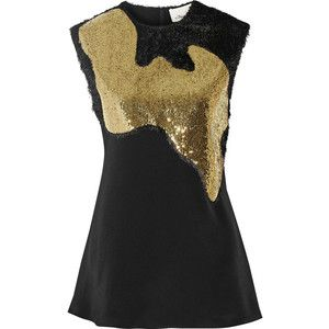 3.1 Phillip Lim Fringed and sequined silk crepe de chine top