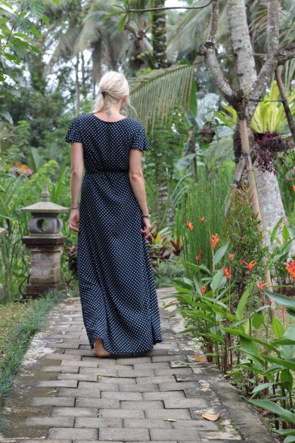 Asymmetrisches LangMaxi Kleid Kleid Mit LangMaxi Punkten Asymmetrisches xeBdCo
