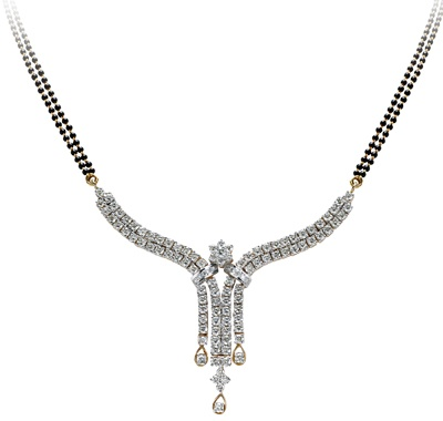 TBZ-The Original brings for you this beautiful 'Diamond Mangalsutra'.