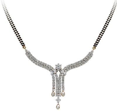 TBZ-The Original brings for you this beautiful 'Diamond Mangalsutra'.