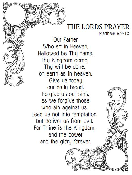 Terrible image with regard to printable copy of the lord's prayer