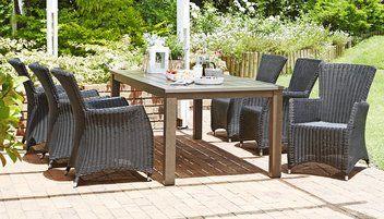 Tafel AMMERUD L220cm+4 stoelen MOELV | JYSK #JYSK #Tuin #Tuinmeubelen