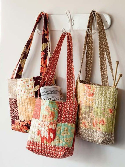 Make 3 Totes From One Charm Pack Quilting Digest Quilts Bags
