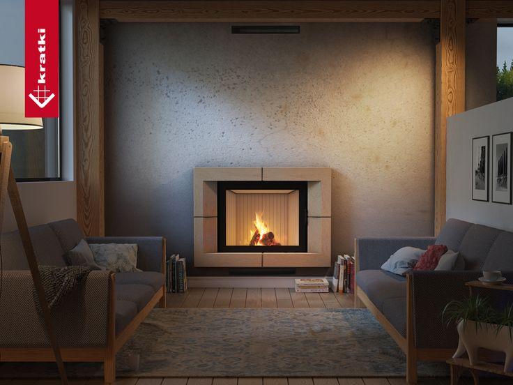 Wkład kominkowy NADIA 13 kW #kratkipl #kratki #kominek #wkład #wnętrze #salon