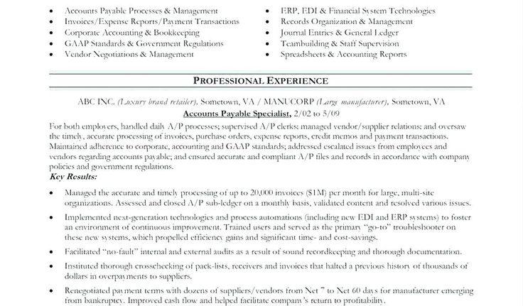 Accounts payable analyst resume accounts receivable