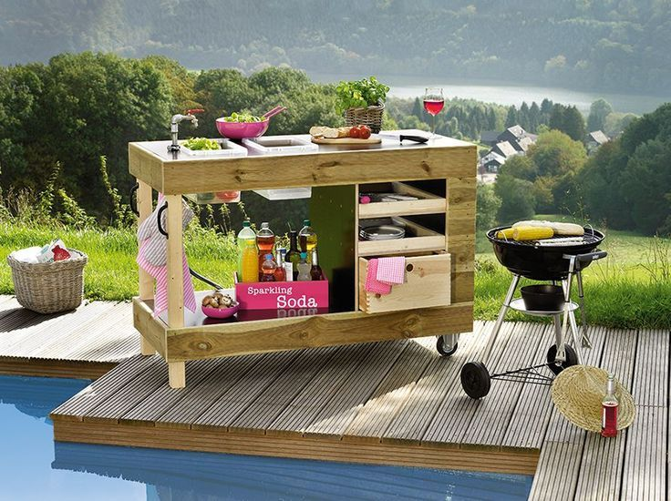 Toom Kreativwerkstatt Gartenkuche Chefkoch Garten Kuche Aussenkuche Selber Bauen Grilltisch