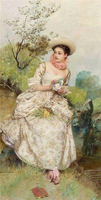 Eduard Charlemont: Artists, Lady Hold, Art Lady, Portraits, Art Elegant, Artpaintingspeopl Genre, Art Galleries, Beautiful Art, Eduard Charlemont