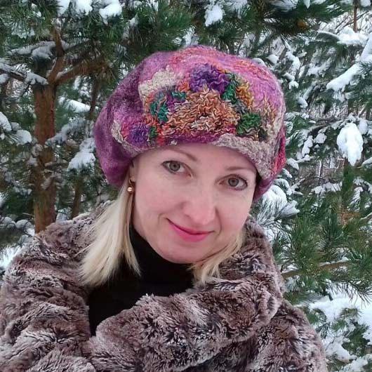 Felt hat, Women hat, felt beret, wool beret, wool cap, beret for winter, hat for winter, warm beret, warm hat, lavender beret, lilac hat by FeltEcoStyle on Etsy