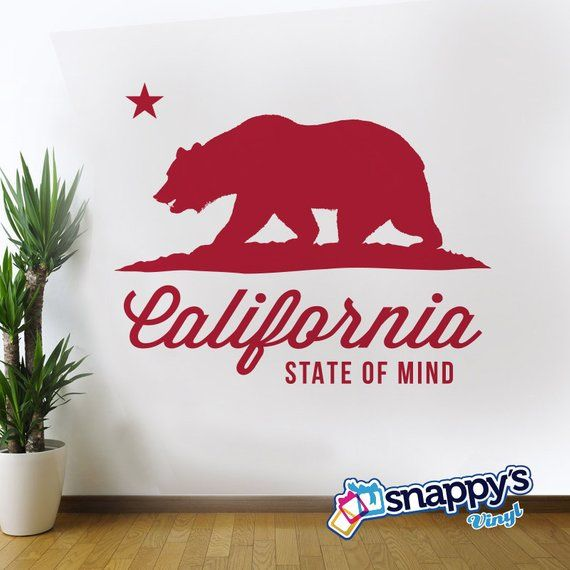 Ride in Style California State Flag car Bumper Sticker Decal 5 x 4