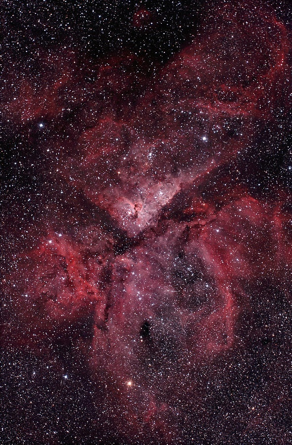 Eta Carinae Nebula, about 7,500 light years from Earth. A hypernova waiting to happen.