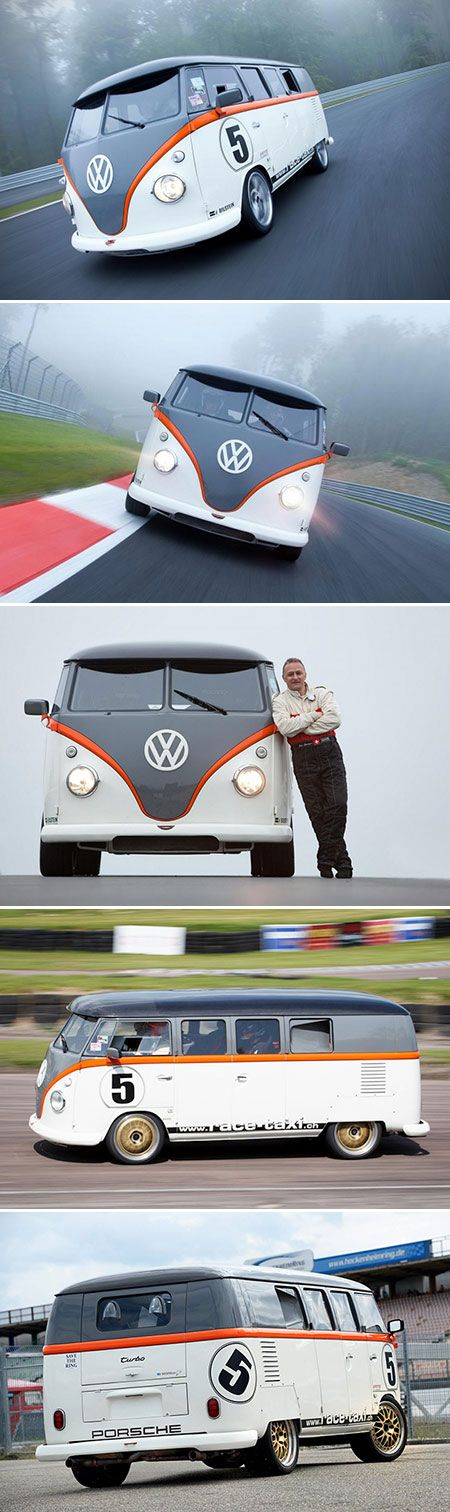 FB1 VW Bus Race Taxi is Powered by a Bi-Turbo 520HP Porsche Engine