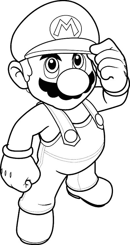 """Mario coloring page. @Michelle Johnson traced the head on an overhead projector and made a """"pin the mustache on Mario"""""""