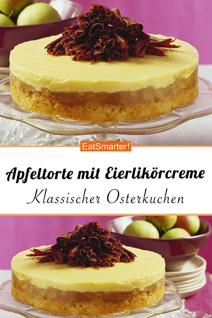 Apfelkuchen mit Eierlikörcreme – schlauer – Zeit: 40 min.   eatsmarter.de #eierli …   – Apfelkuchen Rezepte