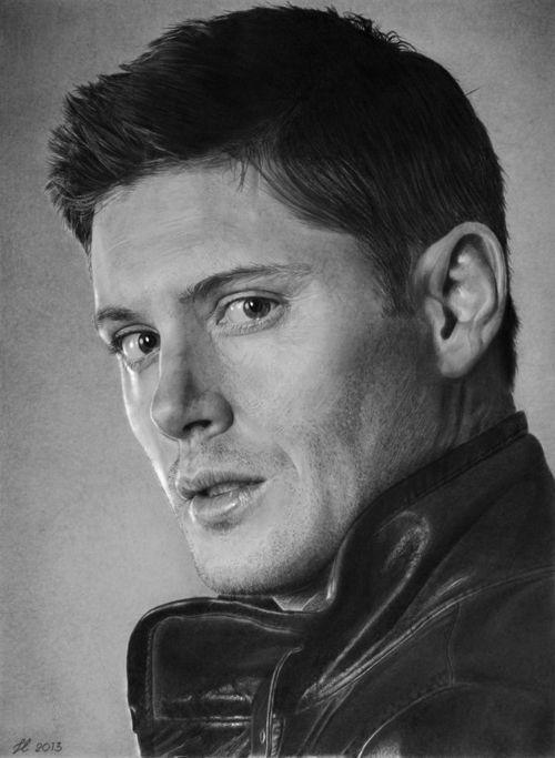 Jensen Ackles as Dean Winchester from Supernatural. Fan Art. Franco Clun