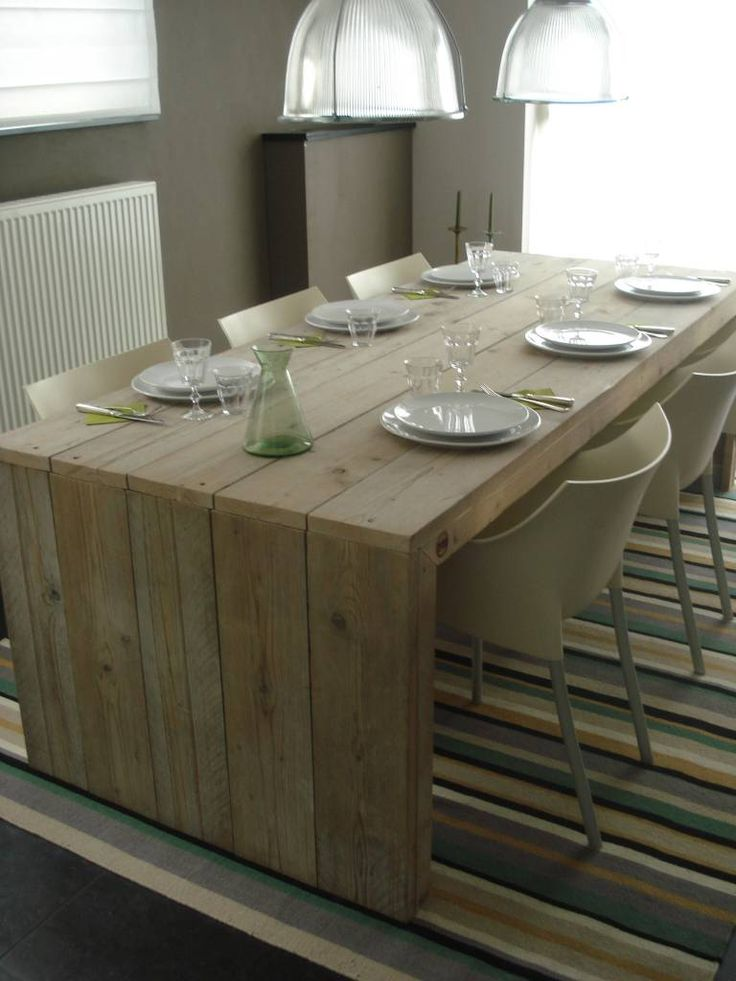 PURE tafel steigerhout met dichte zijkanten