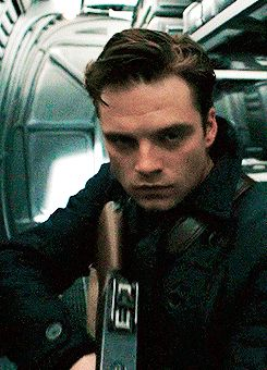 Sergeant James Barnes - has a little bit of the sexy murder strut - even before becoming the Winter Soldier, lol!