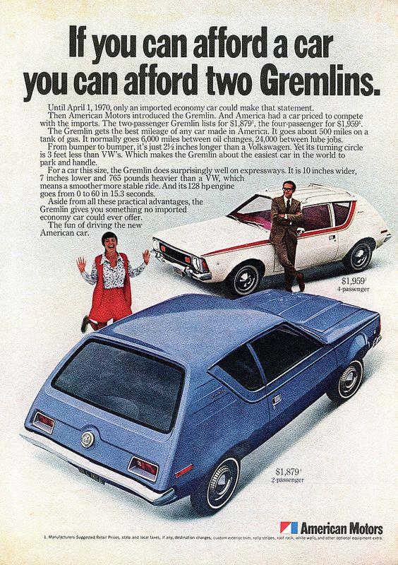 1970 amc american motors gremlin advertisement newsweek may 25 1970