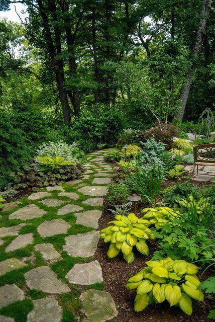 23 Stunning Traditional Landscape Design Ideas | Shade garden ...