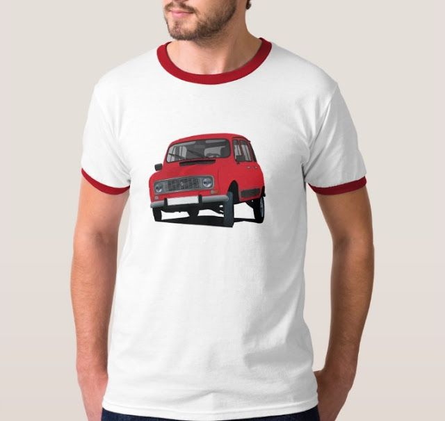 Red Renault 4L from 80's. #french #france #automobiles #car #automobile #classiccars #illustration #80s #tshirt #tshirts #redbubble #vintage #red #auto #zazzle #renault #renault4 #renault4l #renaultr4