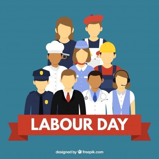 Baixe Pessoas Com Differents Empregos Fundo Em Apartamento Syle Gratuitamente Labour Day Happy Labor Day Vector Free