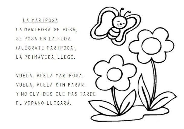 Trabajando en Educación Infantil: 10 poesías de la primavera para colorear
