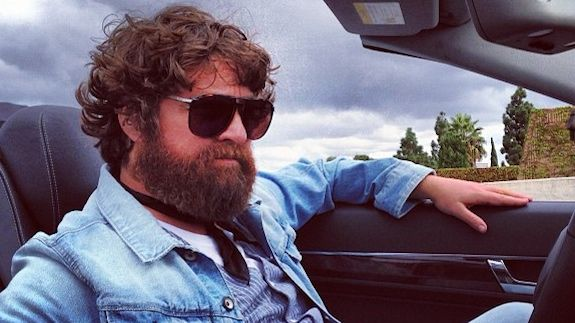 """Zach Galifianakis Shows Off His New """"Musketeer"""" Look"""