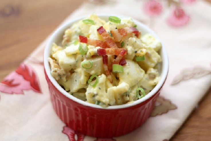 Ranch Potato Salad with Bacon and Eggs - 15 quick meals for one