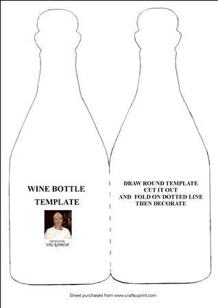 wine bottle template card printables pinterest templates